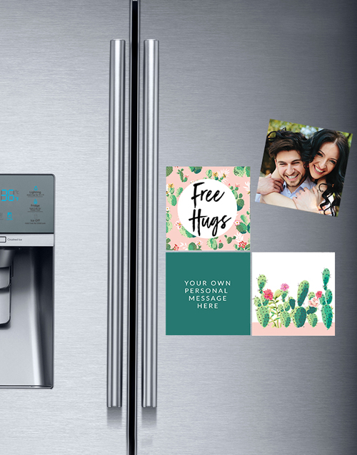 christmas: Personalised Free Hugs Fridge Magnets!