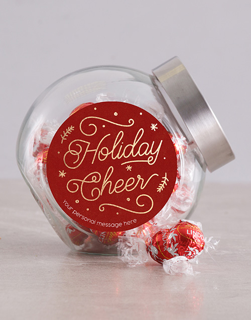 christmas: Personalised Holiday Cheer Candy Jar!