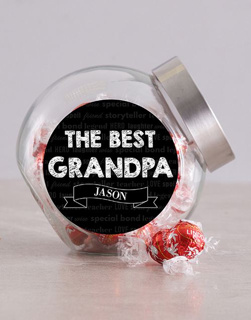 chocolate: Personalised The Best Grandpa Candy Jar!