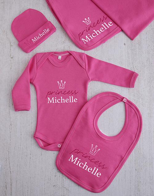 apparel: Personalised Princess Crown Clothing Gift Set!