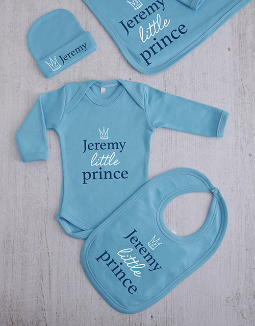 apparel: Personalised Little Prince Clothing Gift Set!