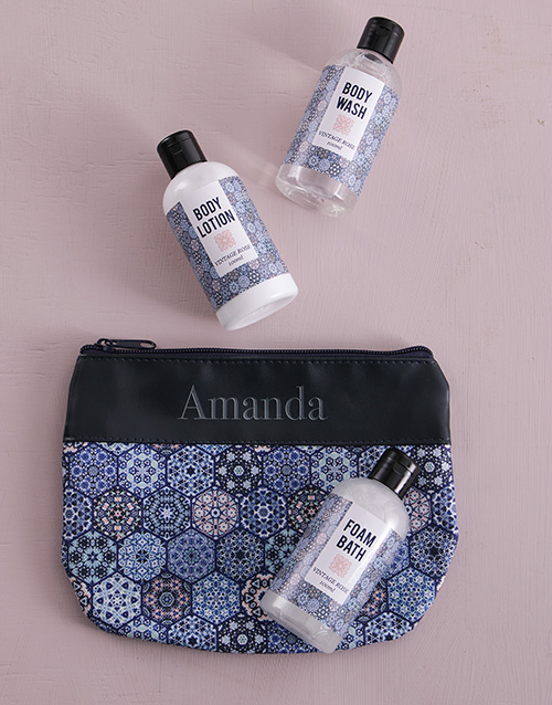 mothers-day: Personalised Blue Marakesh Travel Set!