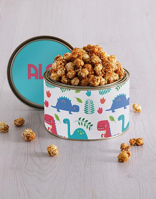 roses: Personalised Dinosaur Popcorn Tin!