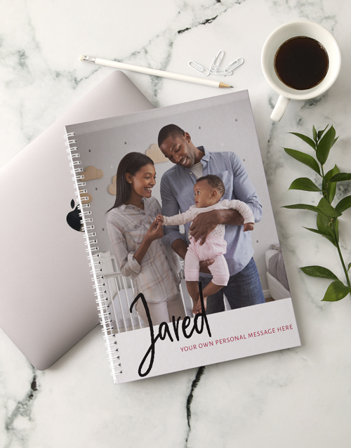 personalised: Personalised Message and Photo Notebook!
