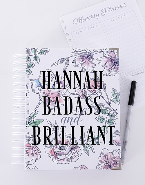 year-end: Personalised Badass and Brilliant Journal!