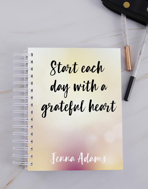 personalised: Personalised Grateful Heart Journal!