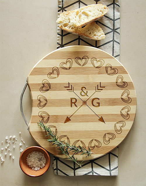 personalised: Personalised Round Arrow & Initial Chopping Board!