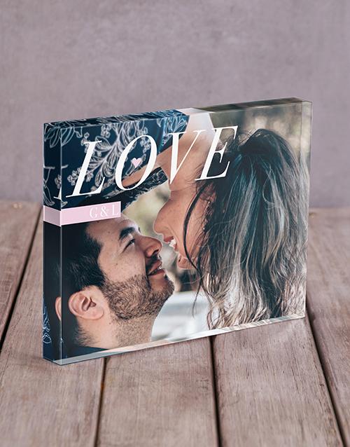 personalised: Personalised Love Initals Acrylic Block!