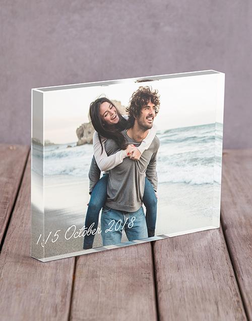 anniversary: Personalised Date Acrylic Block!
