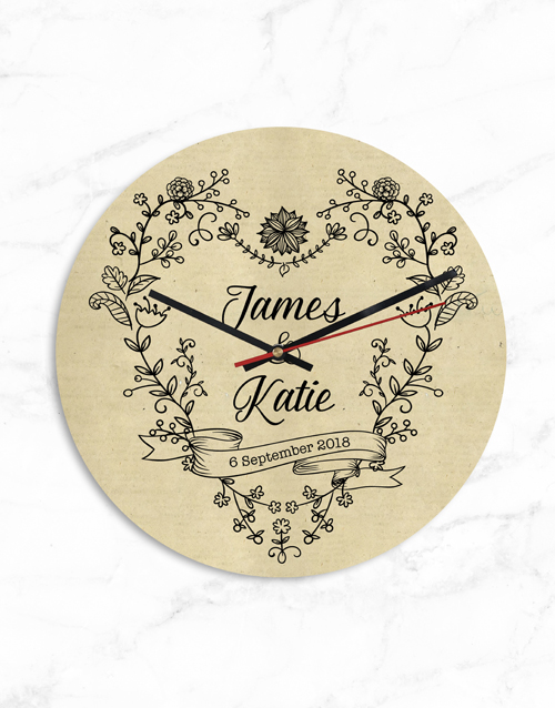 personalised: Personalised Couples Names and Date Clock!