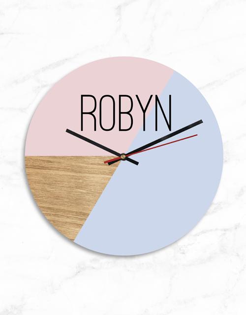 personalised: Personalised Name Modern Clock!