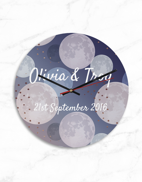 personalised: Personalised Modern Couples Names and Date Clock!