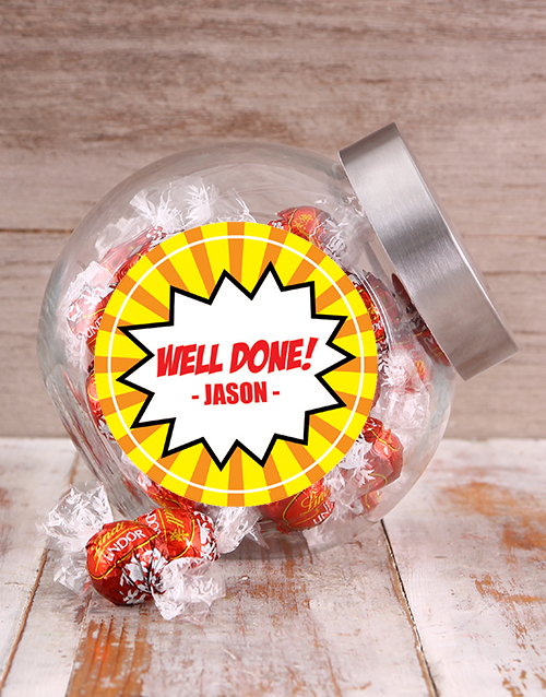 congratulations: Well Done Speech Bubble Candy Jar!