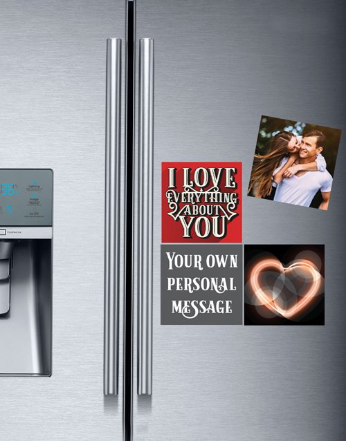 anniversary: Personalised Romantic Fridge Magnets!