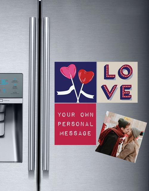 anniversary: Personalised Love and Romance Fridge Magnets!