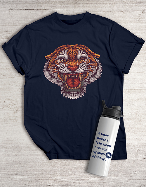 personalised: Personalised Tiger Water Bottle And T Shirt !