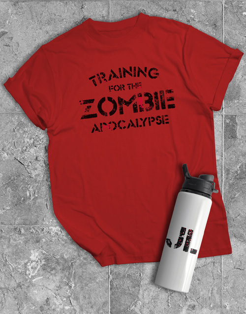 personalised: Personalised Zombie Water Bottle And T Shirt!
