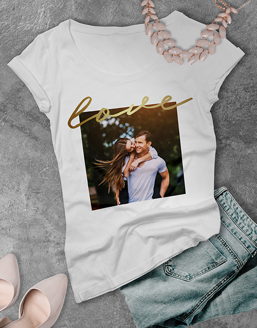 clothing: Personalised Photo Upload Love Ladies T Shirt!
