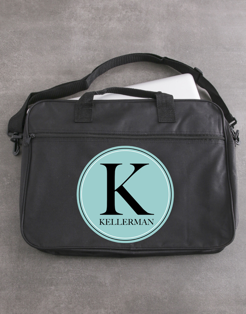 bosses-day: Personalised Initial Laptop Bag!