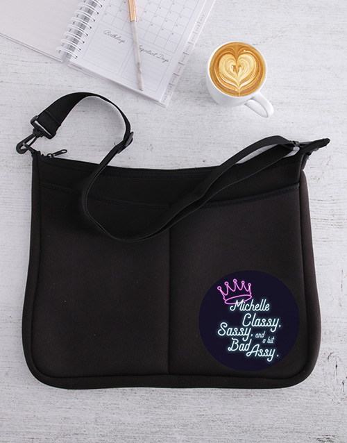 apparel: Personalised Sassy And Classy Laptop Bag!