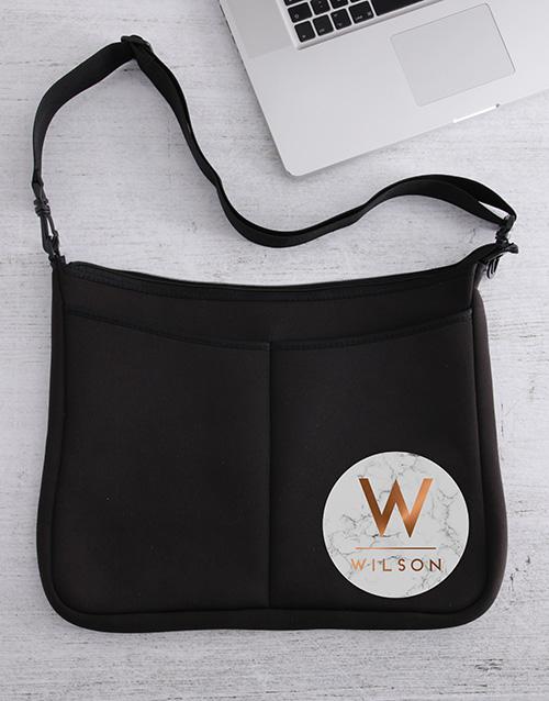 birthday: Personalised Marble Laptop Bag!