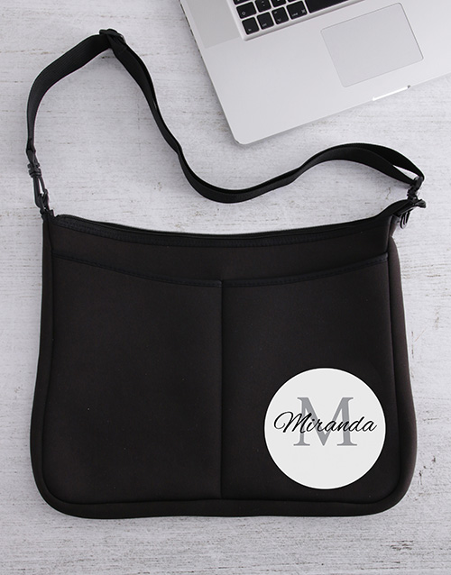 apparel: Personalised Simple And Classy Laptop Bag!