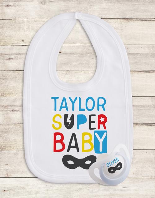baby: Personalised Hero Baby Gift Set!