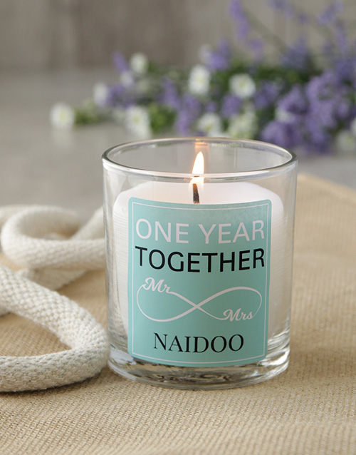 bath-and-body: Personalised Infinity Anniversary Candle!