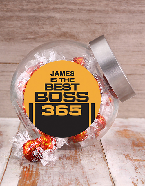 personalised: Personalised Best Boss Candy Jar!
