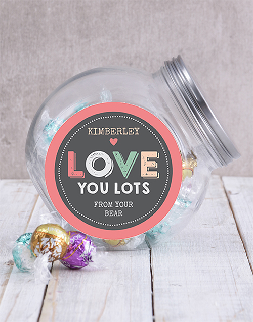 engagement: Personalised Love You Lots Candy Jar!