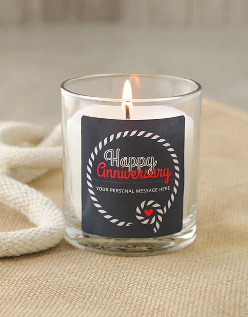 bath-and-body: Personalised Anniversary Knotted Rope Candle!
