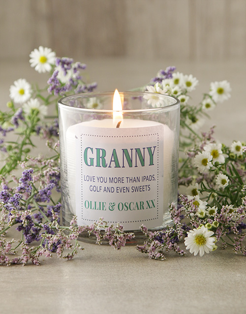 personalised: Personalised Granny Candle!