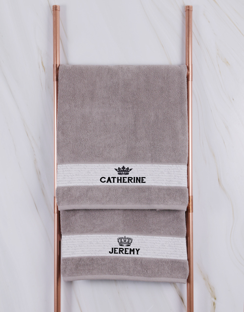 mothers-day: Personalised Royal Stone Towel Set!