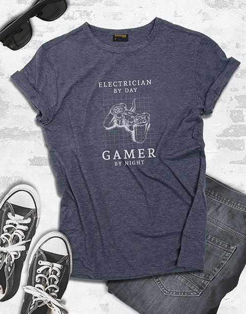 clothing: Personalised Gamer By Night Tshirt!