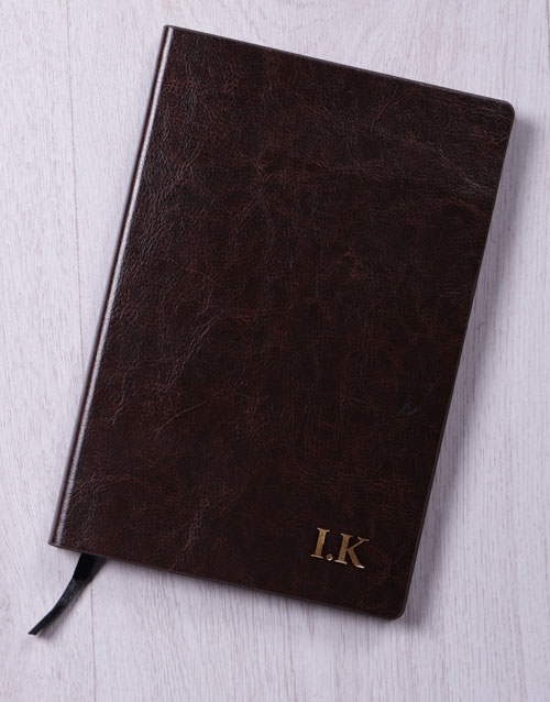 anniversary: Personalised Initials Gilded Notebook!