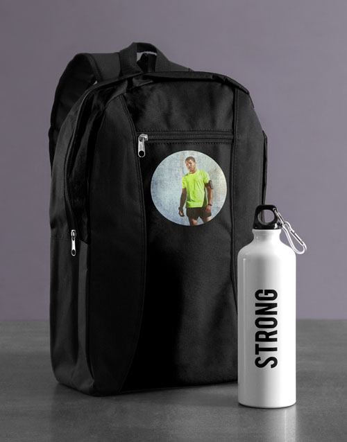 spring-day: Personalised Image Backpack & Waterbottle!