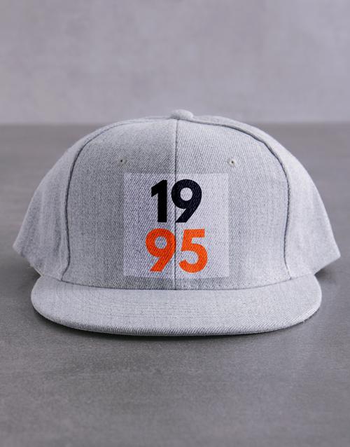 activewear: Personalised Colour Year Flat Peak Cap!
