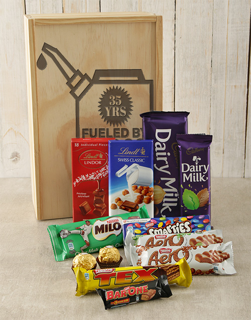 birthday: Personalised Fueled By Chocolate Crate!