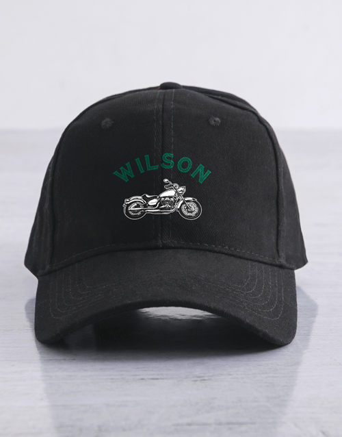 gifts: Personalised Motorcycle Club Cap!