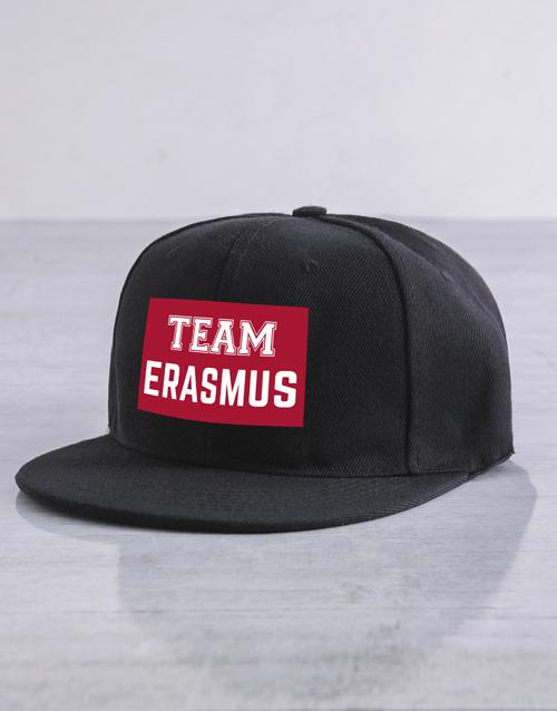 personalised: Personalised Team Black Flat Peak Cap!