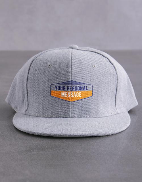 gifts: Personalised Retro Sign Flat Peak Cap!