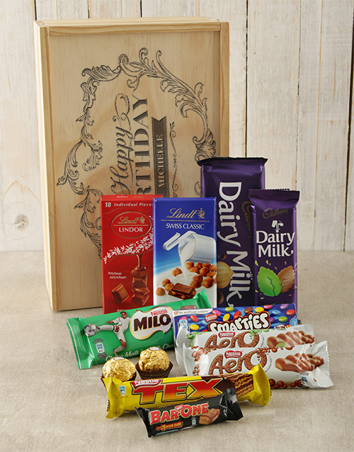 chocolate: Personalised Happy Birthday Choc Crate!