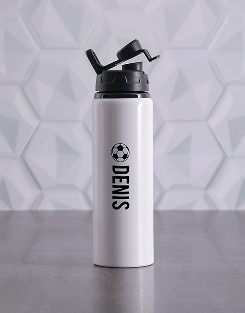 fathers-day: Personalised Soccer Waterbottle!