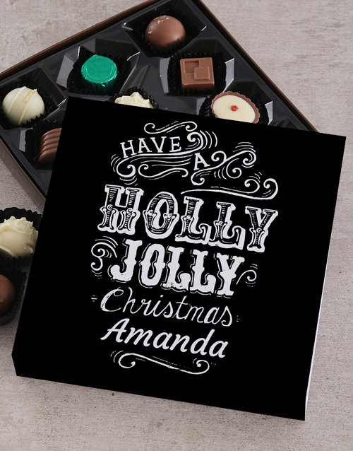 gifts: Personalised Holly Jolly Tray!