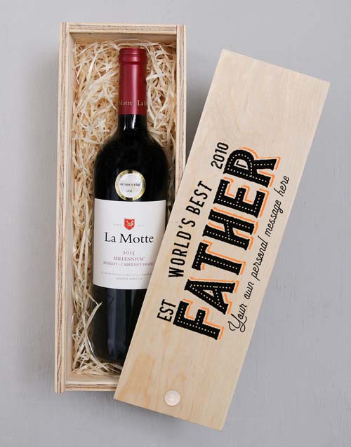 fathers-day: Personalised Worlds Best Father Wine In Crate!