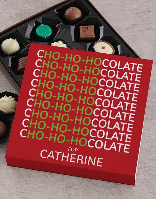 christmas: Personalised Ho Ho Chocolate Tray!