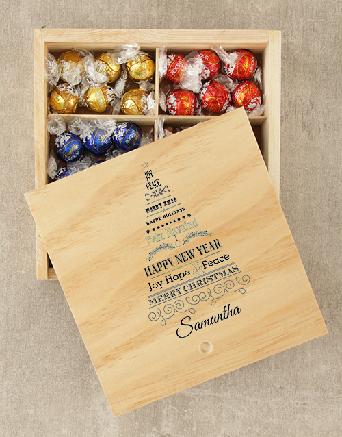 get-well: Personalised Christmas Tree Lindt Box!