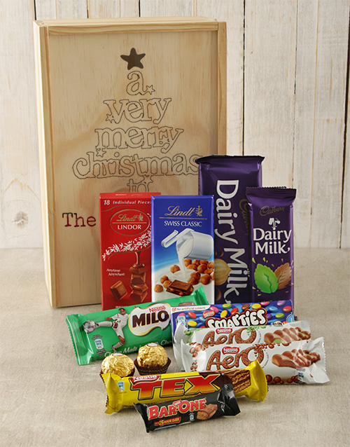 christmas: Personalised Very Merry Chocolate Crate!