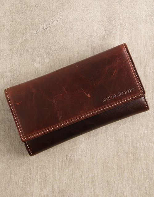 apparel: Personalised Jekyll And Hide Brown Oxford Purse!