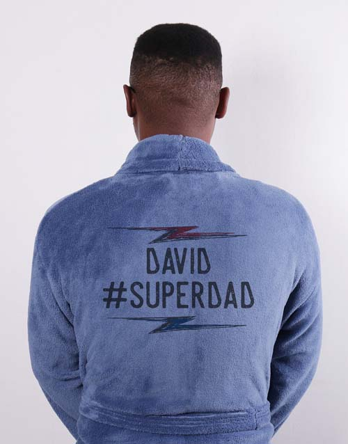 christmas: Personalised Super Dad Blue Gown!